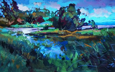 Estuary Greens by Brian Buckrell