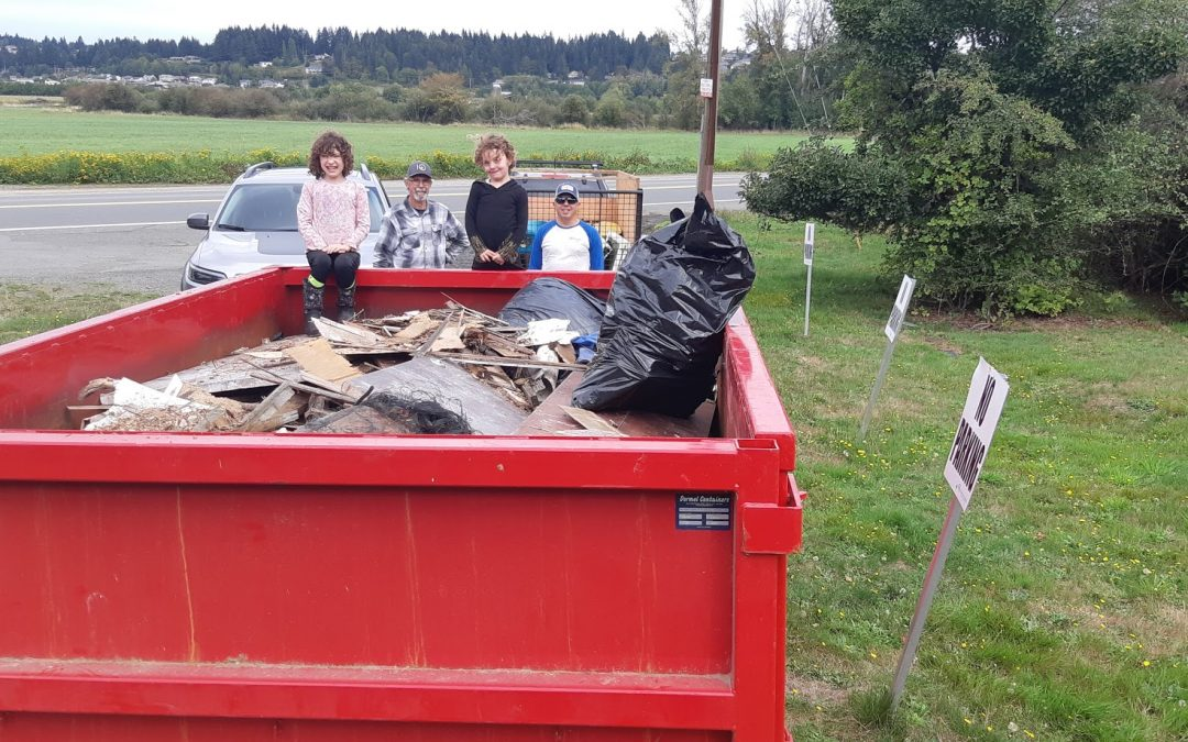 Cleanup Success at Kus-kus-sum and Hollyhock Flats